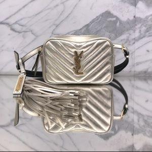 YSL Lou Metallic Leather Belt-bag